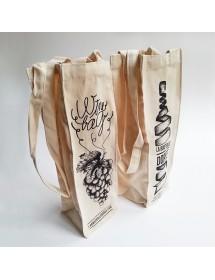 Sac en coton écru pour une bouteille ou un magnum avec design Wine Bag