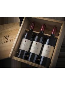 Coffret Bois Vérité Wines Sonoma USA 3 bouteilles