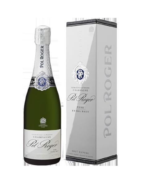 Champagne Pol Roger Pure Extra-Brut - Avec étui