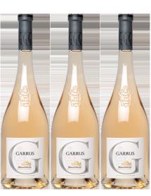 Caisse bois 3 bouteilles Garrus Rosé Château d'Esclans Côtes-de-Provence