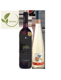 Coffret vin Grèce Agriculture Biologique 2 bouteilles