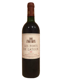 Les Forts de Latour 2ème vin du Château Latour Pauillac Rouge 1990