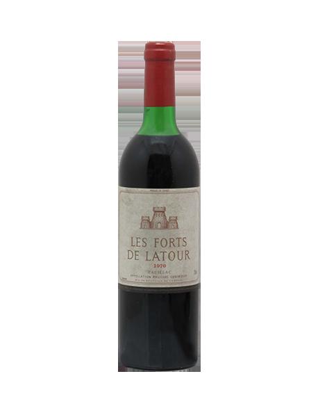Les Forts de Latour Second vin du Château Latour Pauillac Rouge 1970