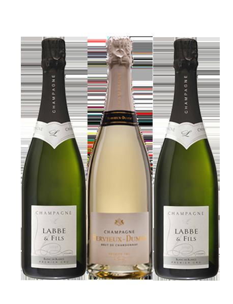 Coffret Champagne Blanc de blancs 3 bouteilles