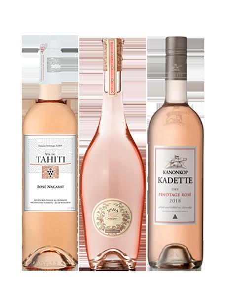 Coffret vin rosé d'ailleurs 3 bouteilles