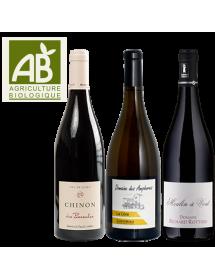 Coffret vin rouge et blanc Agriculture Biologique 3 bouteilles