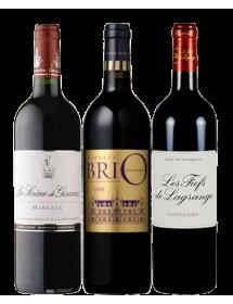 Coffret vin Bordeaux Médoc Seconds vins 3 bouteilles