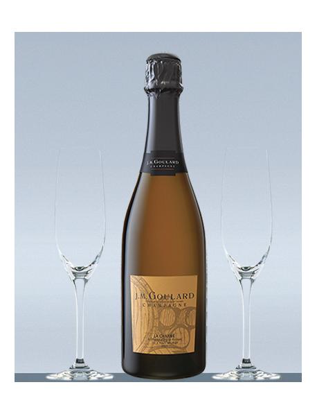 Coffret Champagne Blanc de noirs et 2 flûtes