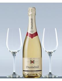 Coffret Champagne Blanc de blancs et 2 verres de dégustation