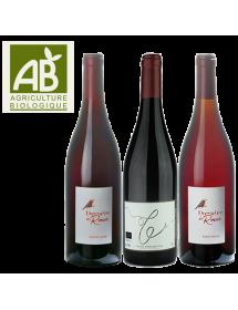 Coffret vin rouge BIO Jura 3 bouteilles