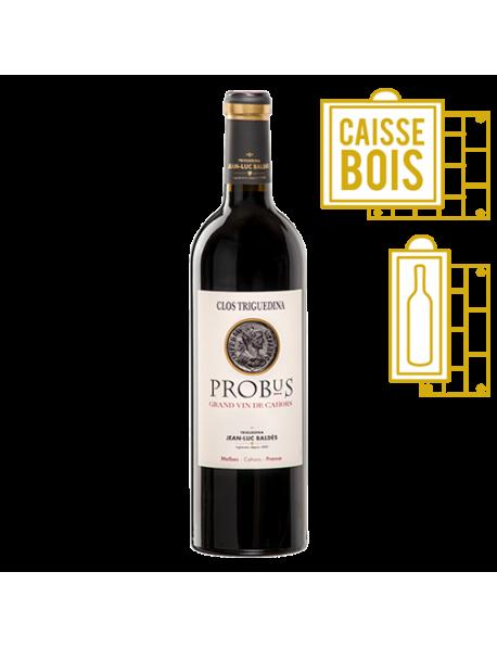 Clos Triguedina Cahors Probus 1997 - Coffret Bois 1 Bouteille
