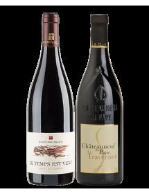 Coffret vin rouge Rhône Cépage Grenache 2 bouteilles
