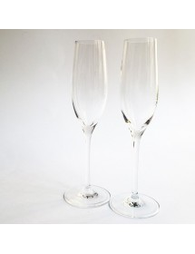 Duo de flûtes Champagne 180ml In Vino Veritas