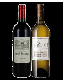 Coffret vin Bordeaux Rouge et Blanc Médoc 2 bouteilles