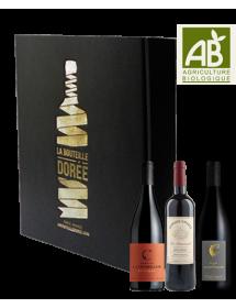 Coffret vin Languedoc Agriculture Biologique Sélection 3 bouteilles