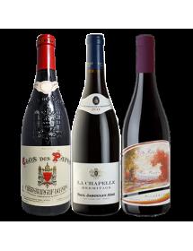 Coffret vin rouge Rhône Prestige 3 bouteilles