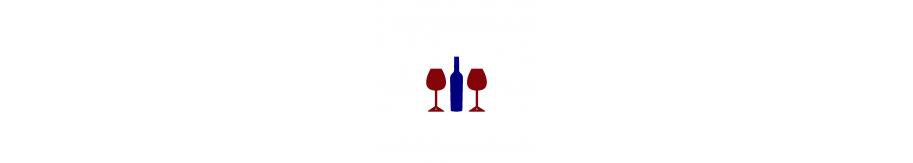 COFFRET VIN ET VERRES |1 bouteille de vin et 2 verres de dégustation