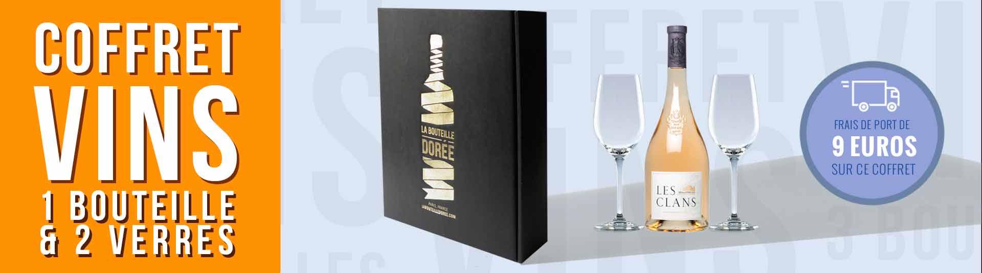 Coffret Passion Vin Rosé Les Clans et 2 verres
