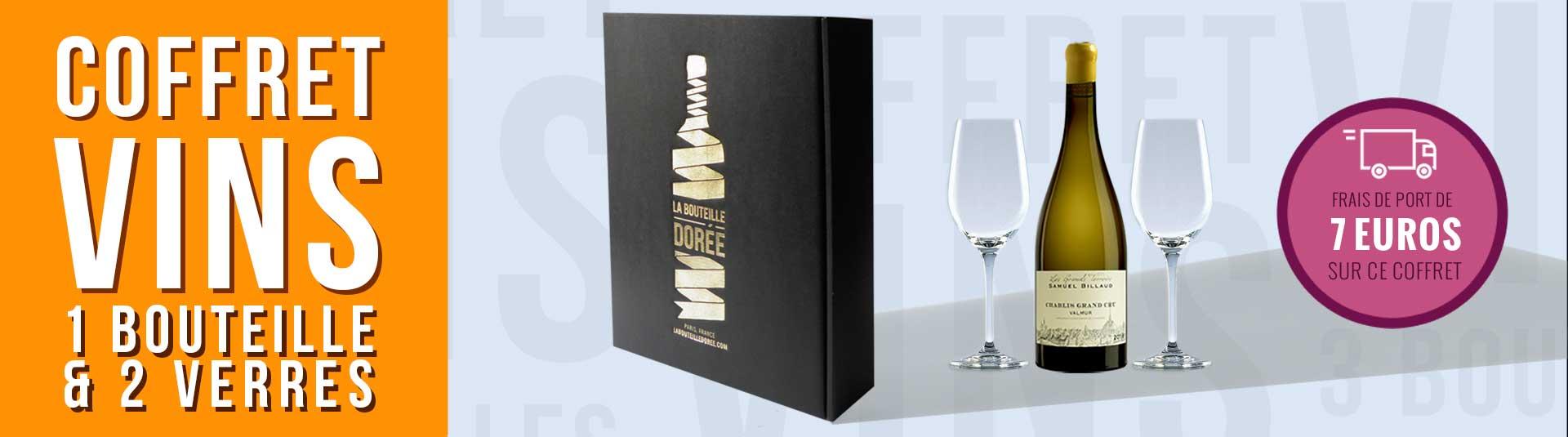 coffret vin Chablis Grand Cru et 2 verres