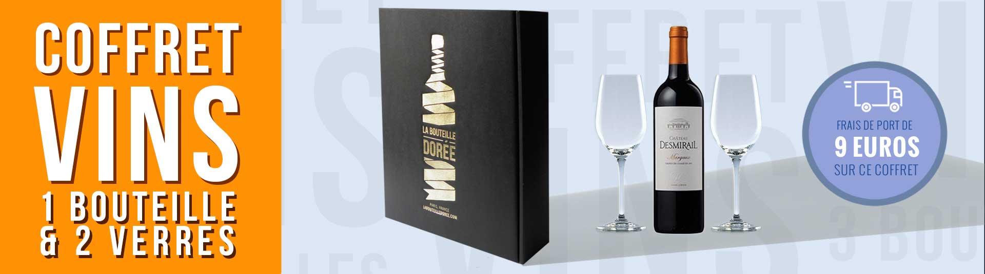 Coffret Margaux Grand Cru Classé et 2 verres