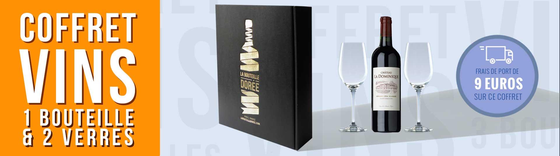 Coffret Saint-Emilion Grand Cru Classé et 2 verres