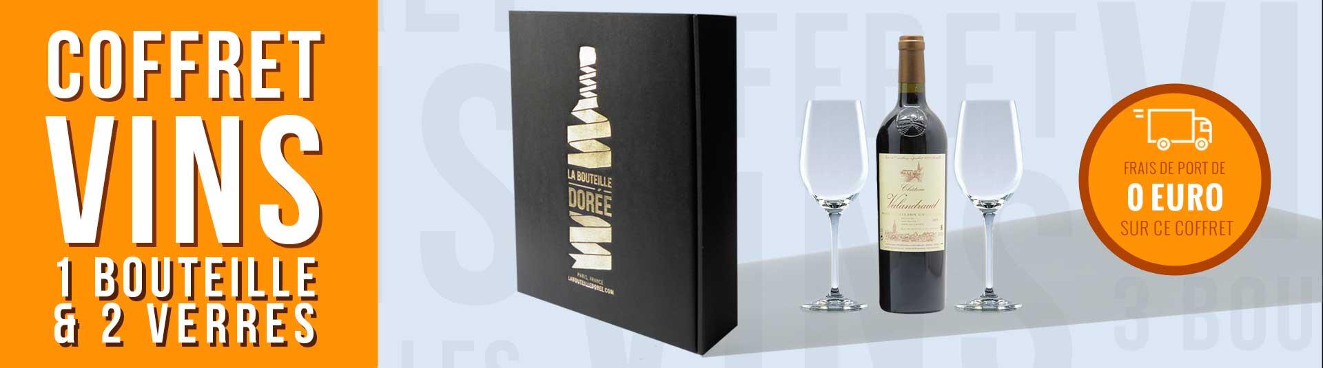 Coffret Saint-Emilion 1er Grand Cru Classé et 2 verres