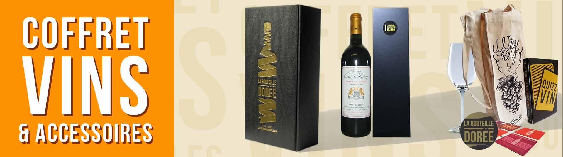 coffret vin 1985 avec accessoires