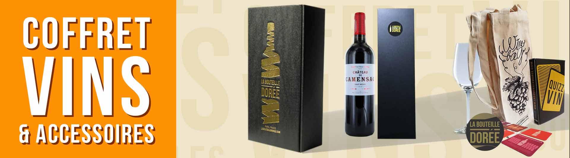 coffret vin 1986 avec accessoires