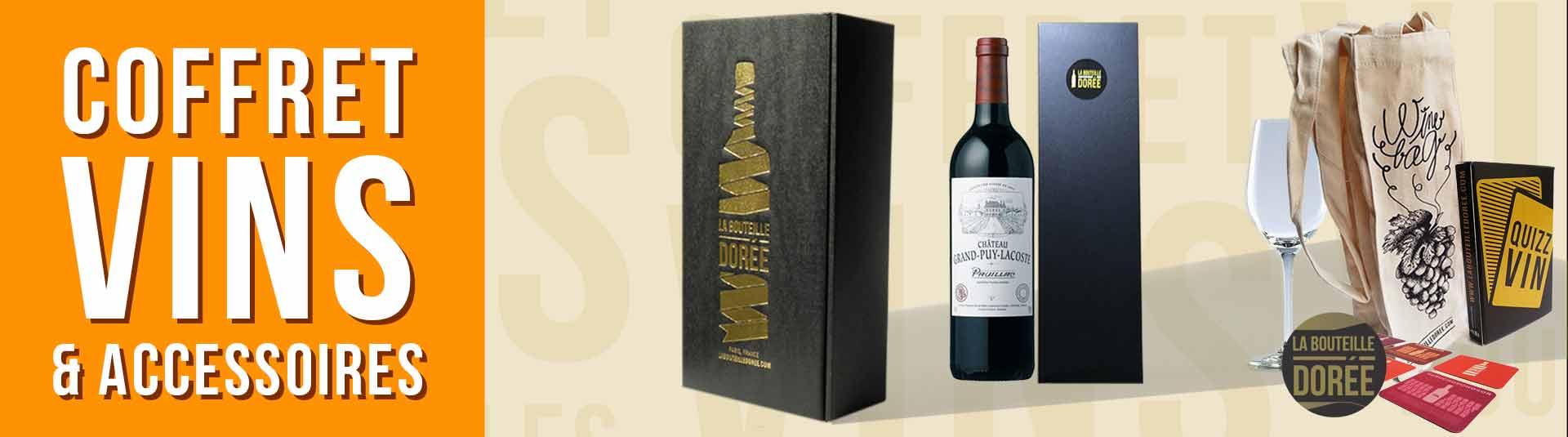 coffret vin 1987 avec accessoires