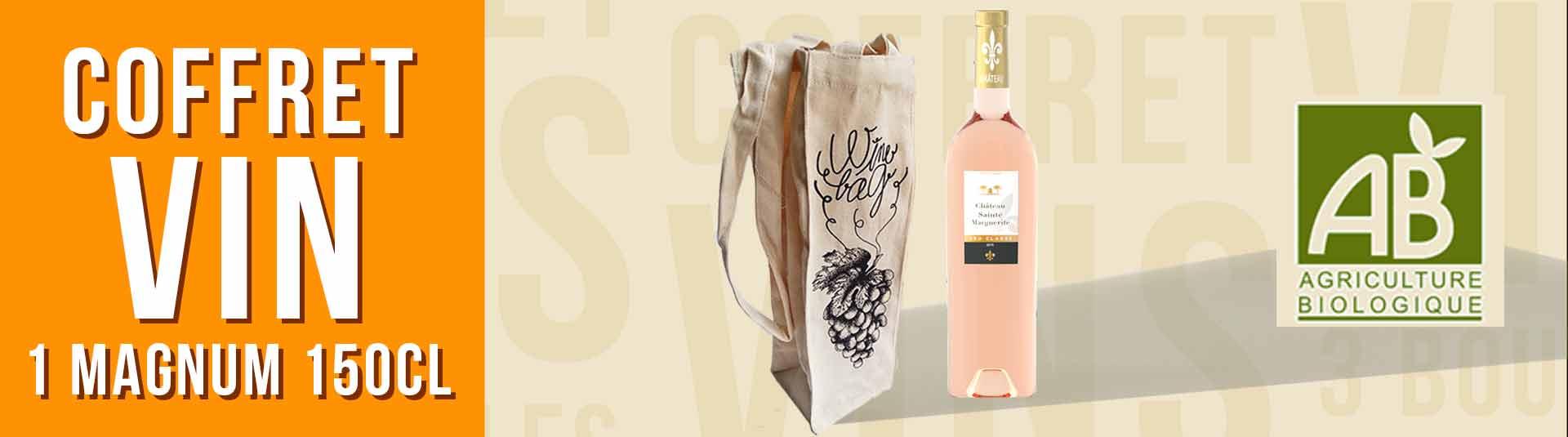 Coffret cadeau vin 1 Magnum Rosé Cru Classé de Provence