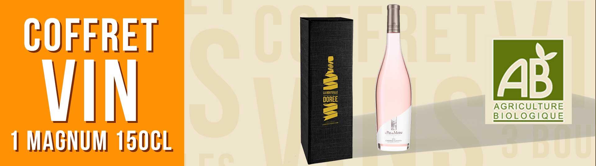 Coffret cadeau vin 1 Magnum Rosé BIO