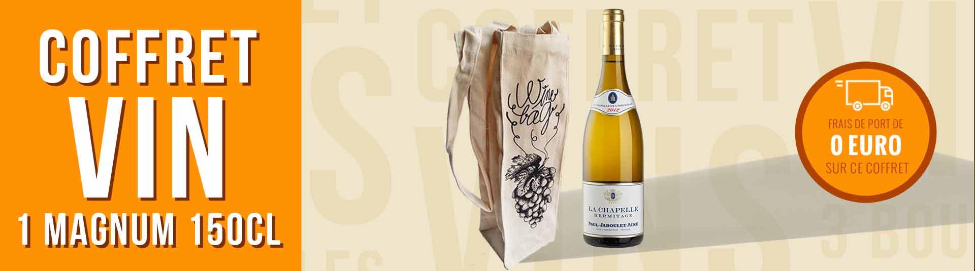 Coffret cadeau vin Magnum Hermitage Blanc