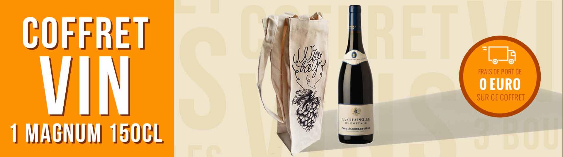 Coffret cadeau vin Magnum Hermitage