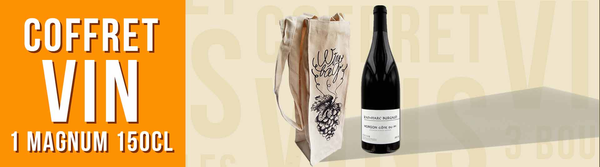 Coffret cadeau vin 1 Magnum Beaujolais Morgon