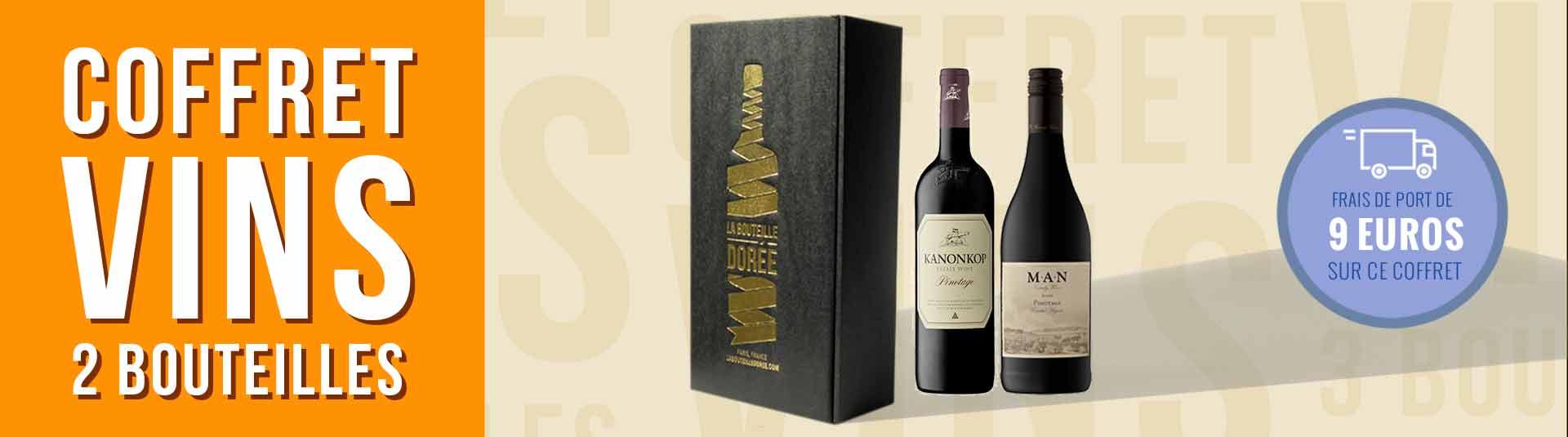 Coffret vin Pinotage Afrique du Sud 2 bouteilles