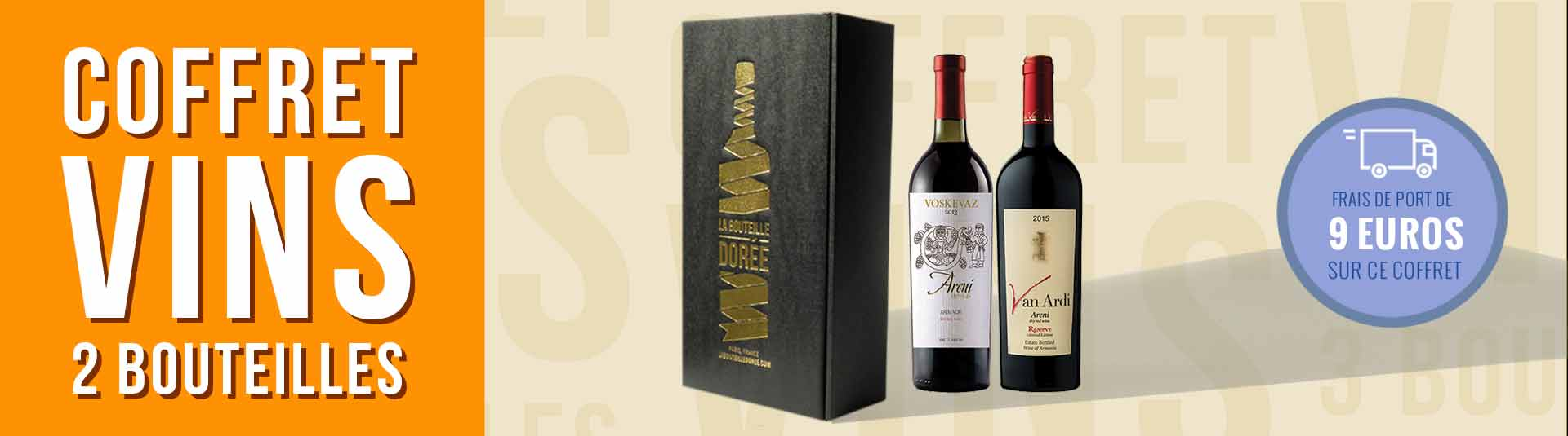 Coffret vin Arménie 2 bouteilles