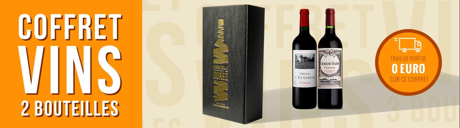 Coffret vin rouge Bordeaux Pomerol 2 bouteilles