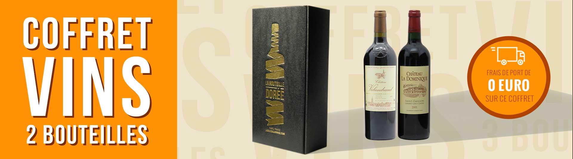 Coffret vin rouge Bordeaux Saint-Emilion Grand Cru 2 bouteilles