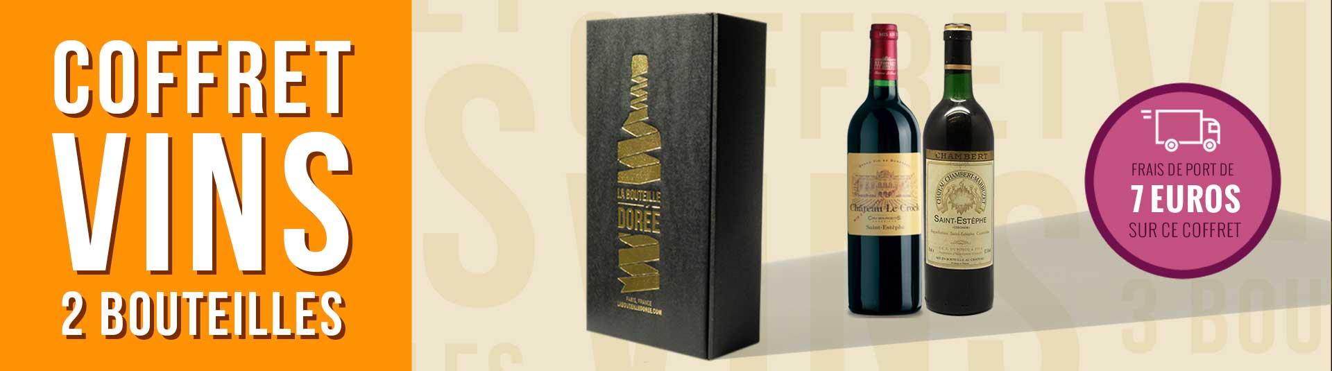 Coffret vin Bordeaux Saint-Estèphe 2 bouteilles