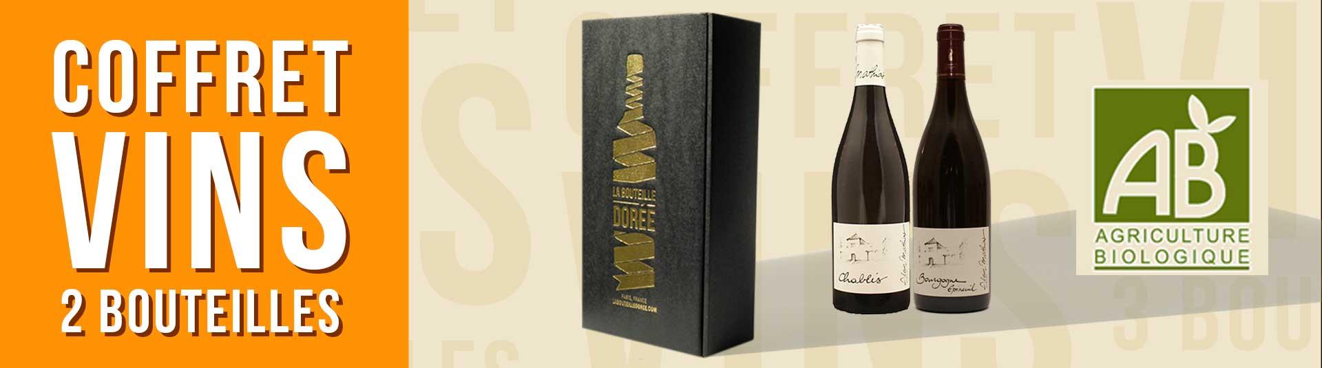 Coffret vin Bourgogne BIO 2 bouteilles