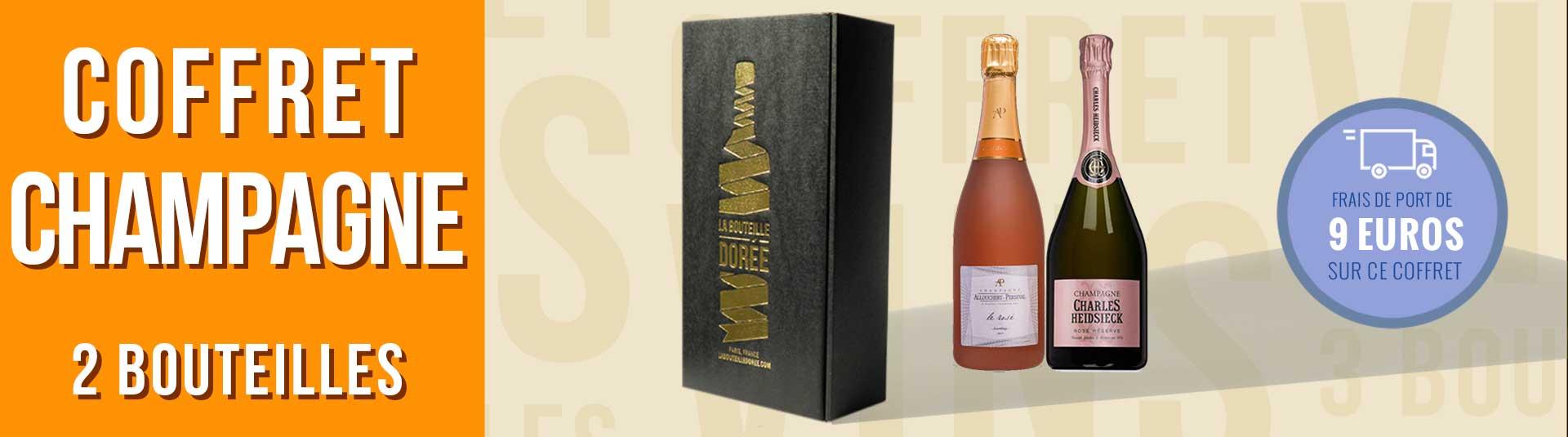 Coffret Champagne Rosé 2 bouteilles