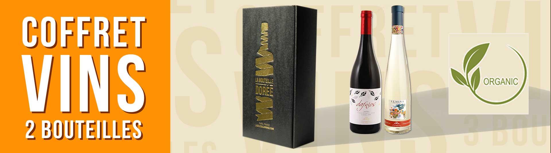 Coffret vin Grèce Crète BIO 2 bouteilles