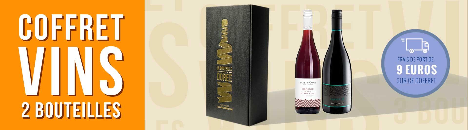 Coffret vin Nouvelle-Zélande Pinot Noir 2 bouteilles