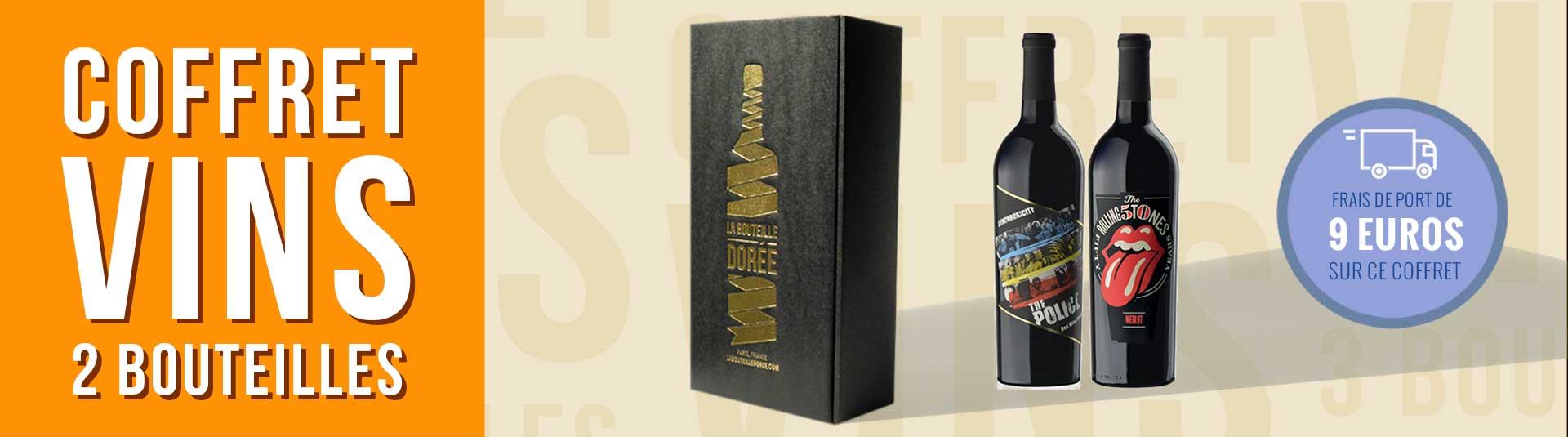 Coffret vin rouge Rock USA 2 bouteilles