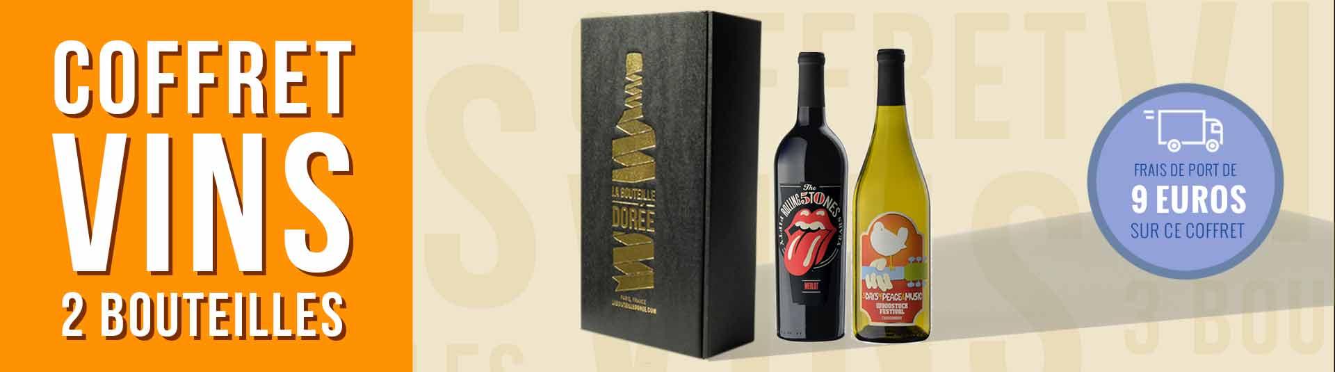 Coffret vin Rock USA 2 bouteilles