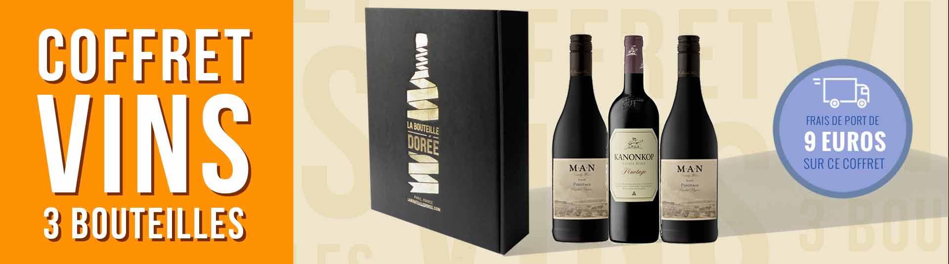 Coffret vin Pinotage Afrique du Sud 3 bouteilles