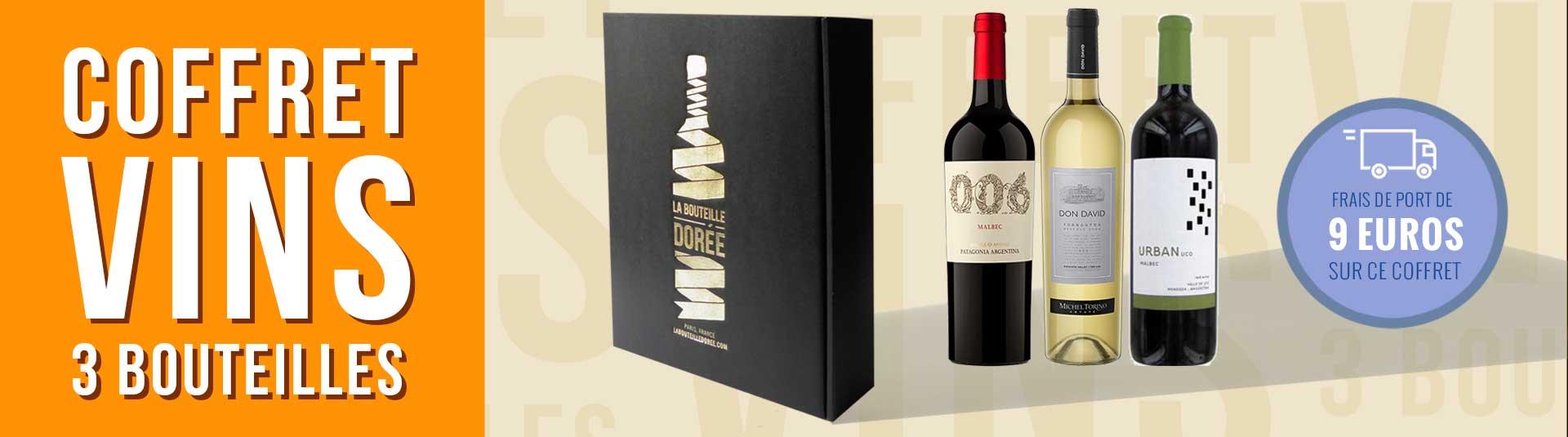Coffret vin Argentine 3 bouteilles
