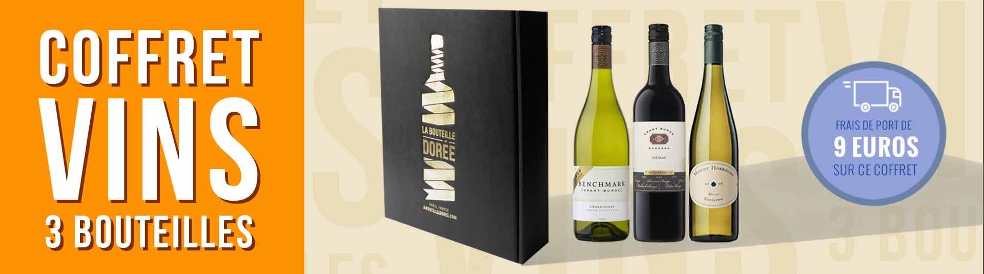 Coffret vin Australie 3 bouteilles