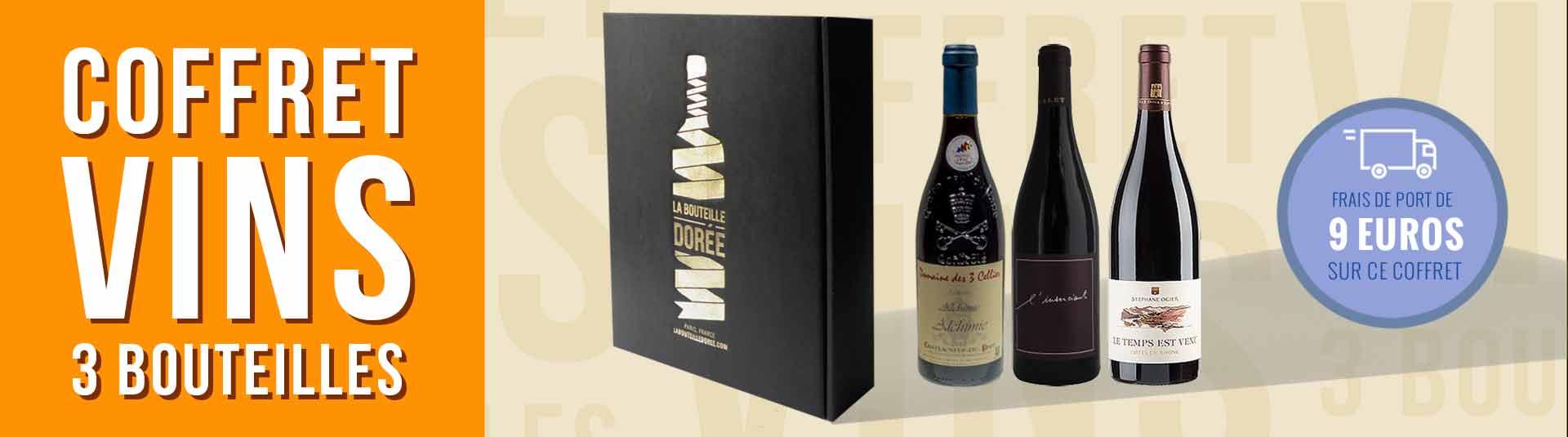 coffret vin Cépage Grenache 3 bouteilles