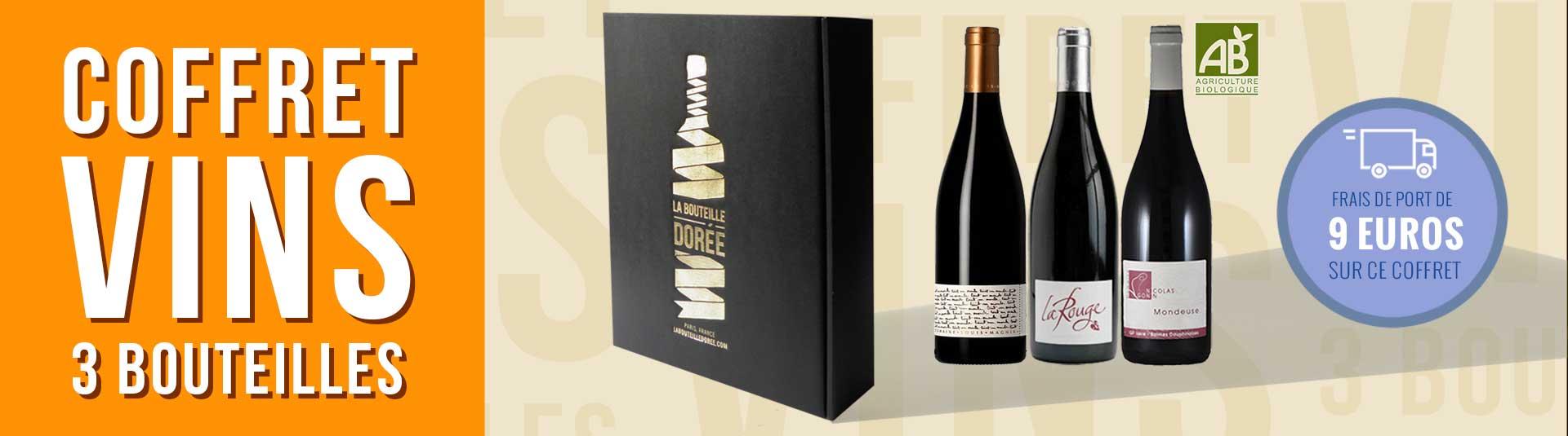Coffret 3 bouteilles vin BIO Cépage Mondeuse